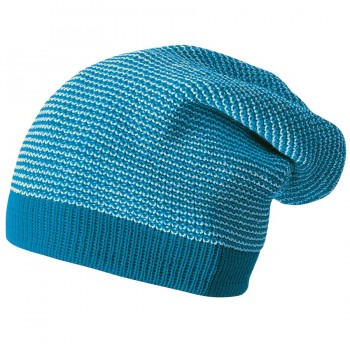 Long Beanie Strickmütze mitwachsend 2 -14 Jahre blau