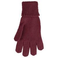 Fingerhandschuhe Wolle Seide bordeaux