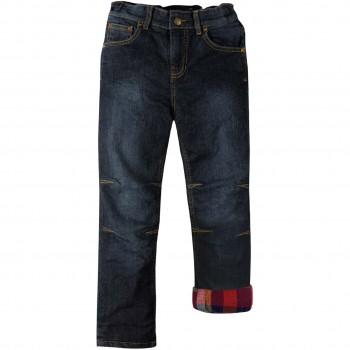 Flanell Jeanshose zum Krempeln rot