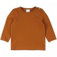 Dehnbares Basic Langarmshirt in braun