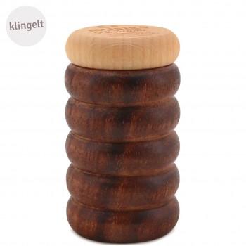 Glöckchen-Shaker Holz Musikinstrument dunkel