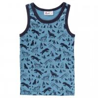Unterhemd blau Wölfe Ollover