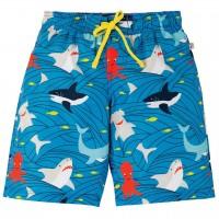 Jungen Badehose Meerestiere blau