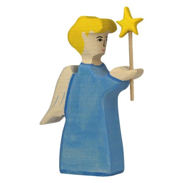 Engel mit Stern Holzfigur