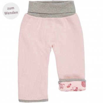 Strick Wendehose Waldtiere rosa