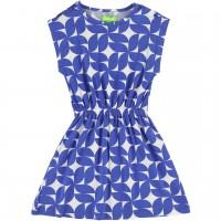 Sommer Kleid mit Muster in blau