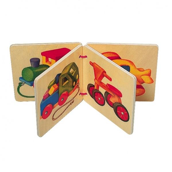Holz Bilderbuch ab 3 Monaten - Fahrzeuge