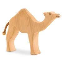 Dromedar Holzfigur Eschenholz 12,5 cm hoch