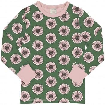 Ringelblumen Shirt langarm Bündchen in grün