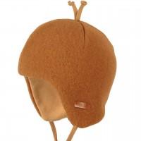 Baby Wintermütze beliebter Klassiker karamell-braun