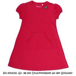 Praktisches Bio Sommerkleid mit Kängurutasche - rot