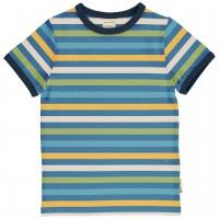 Blaues Ringel Shirt kurzarm