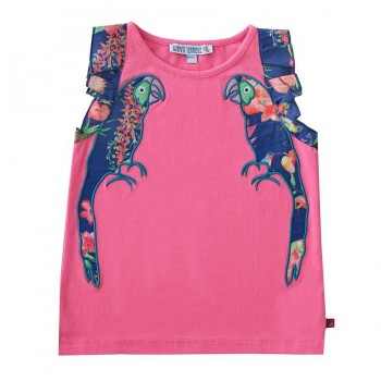 Sommer Shirt Papagei pink