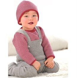 Baby Hose warm hochwertige Wolle grau