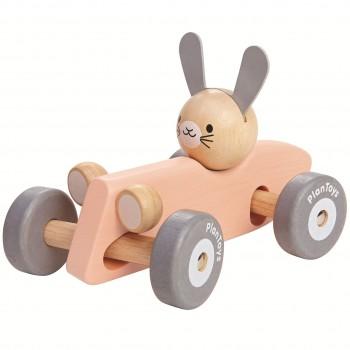 Rennauto Spielzeug lenkbar ab 12 Monaten pastellrosa