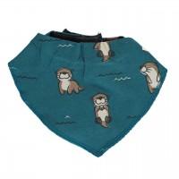 Warmes Otter Dreiecktuch in blau