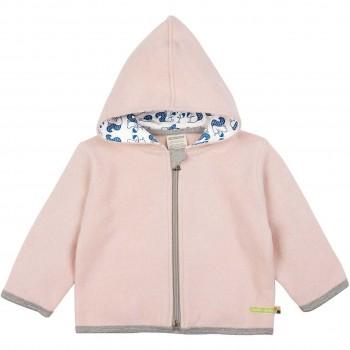 Warme Jacke Wollfleece in rosa
