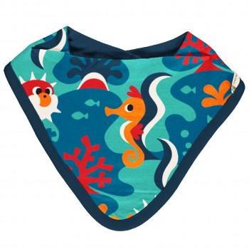 Leichtes Dreiecktuch Korallenriff blau