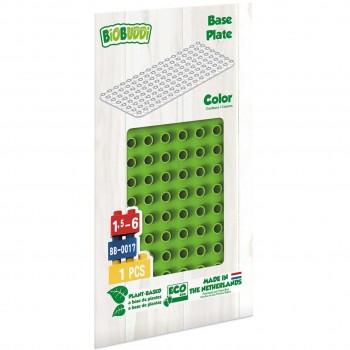 Bauplatte für Stecksteine – Basisplatte hellgrün 15x30 cm