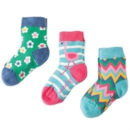 Bio Socken 3er Pack Mädchen Flamingo