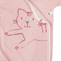 Vorschau: Wickelbody feine Rippe Katze