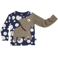 Elefanten Shirt robuster Interlock navy dot