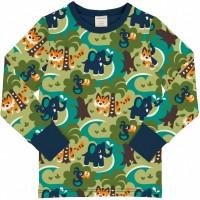 Dschungel Shirt langarm Bündchen in grün