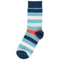 Blaue Socken mit Ringeln im Doppelpack