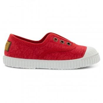 Rote Canvas Sneaker mit Naturkautschuk-Sohlen