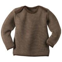 Vorschau: Bio Babypullover Melange-Pullover hochwertig neutral braun