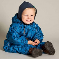 Baby Schnee-Overall Sterne blau
