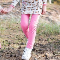 Bio Kinderleggings pink robust