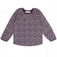 Lila Shirt Herbstblätter langarm