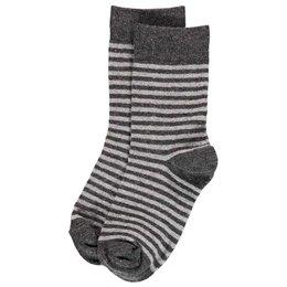 2 Paar Socken grau gestreift