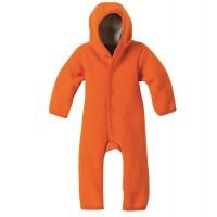 Walk Overall 100% Merino Schurwolle mit Kapuze orange