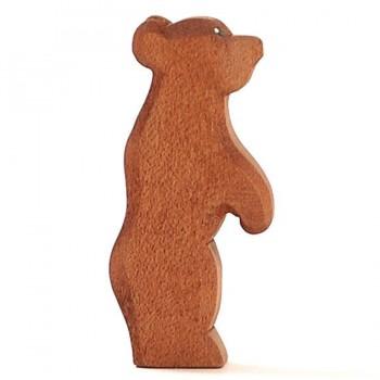 Kleiner Bär Holztier stehend 9,5 cm hoch