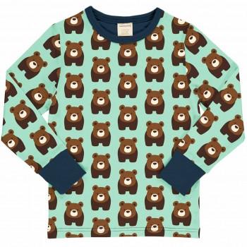 Bären Shirt langarm türkis