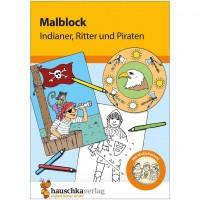 Malblock für Kinder ab 3 Jahre Piraten & Ritter