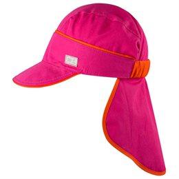 Knall pinke Schirmmütze mit Nackenschutz