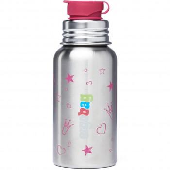 """Edelstahl Trinkflasche """"Prinzessin"""" 0,5 l"""