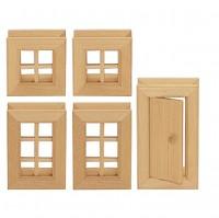 Vorschau: Fenster & Türen 5-tlg. Baukasten System - freies Bauen & kons