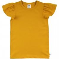 Edles T-Shirt Schmetterlingsärmel senfgelb