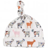 Babymütze mit Knoten Zipfelmütze - Ziegen
