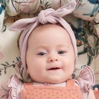 Edles Müsli Baby Haarband rosa