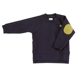 Sweatshirt Pullover mit Knöpfen Ellenbogen Patsch