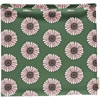 Schlauchschal Ringelblumen in grün 98/140