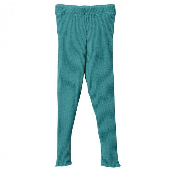 Woll Leggings türkis warm und mitwachsend