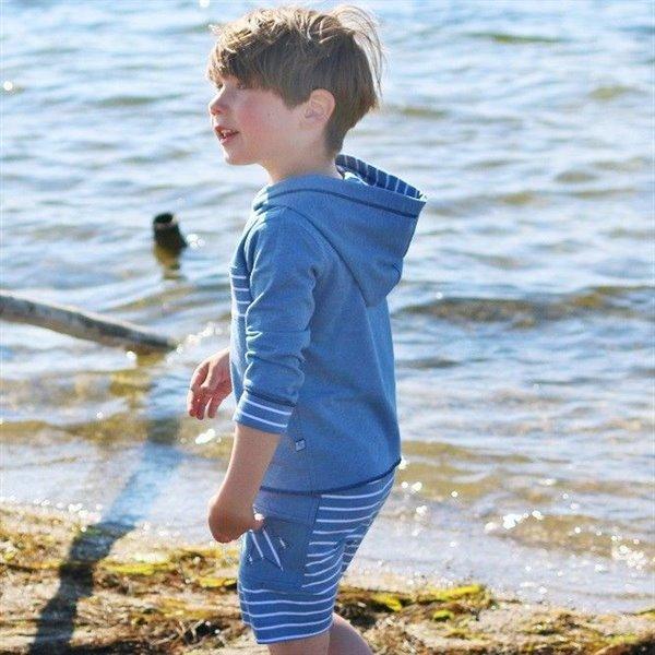Hochwertige Jungen Shorts mit Seitentasche - blau