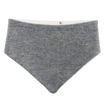 Winter Dreiecktuch Klett grau