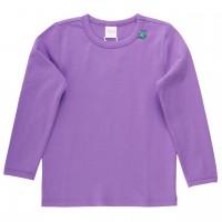 Basic Langarmshirt in lila